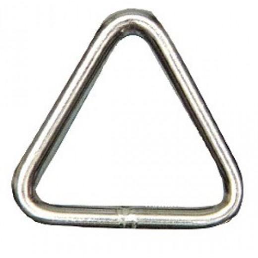 Anello inox triangolare 6x40