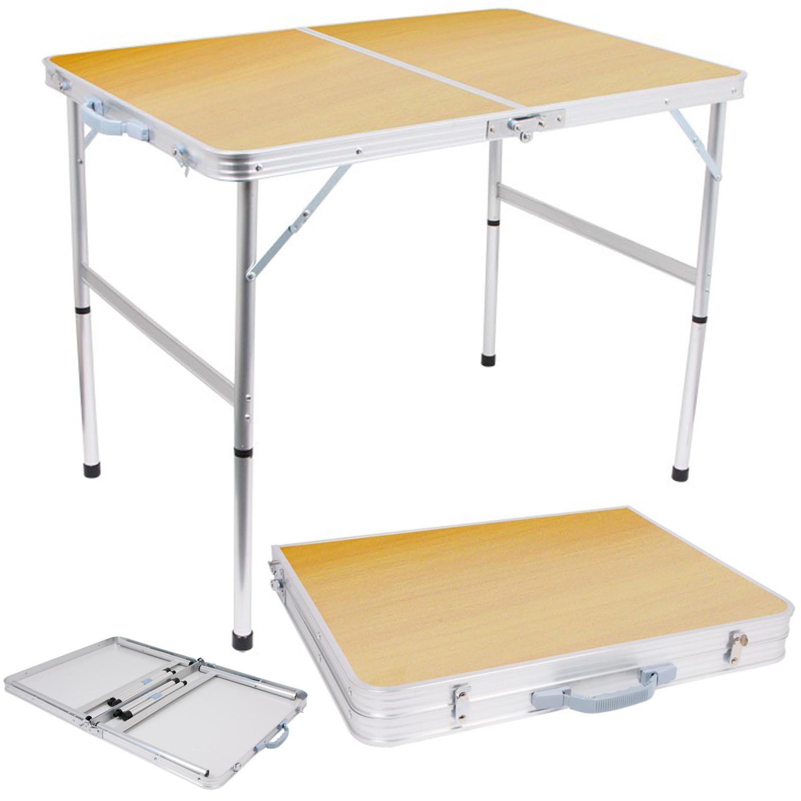 Tavolo pieghevole da pic nic in alluminio accessorio per camper campeggio ebay - Tavolo pieghevole con maniglia ...
