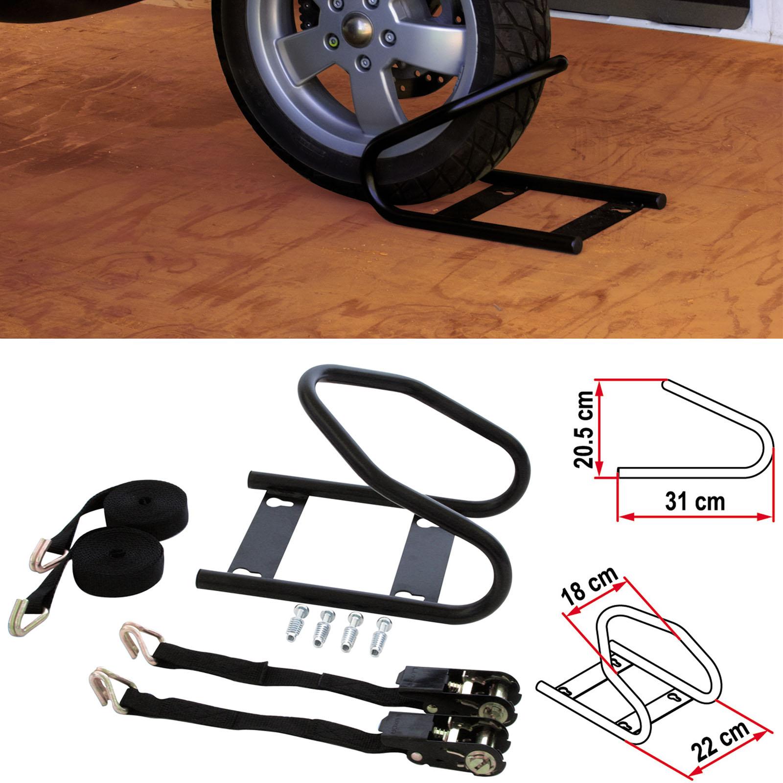 Bloccaruota anteriore per scooter e mtociclette da camper for Kit per il portico anteriore