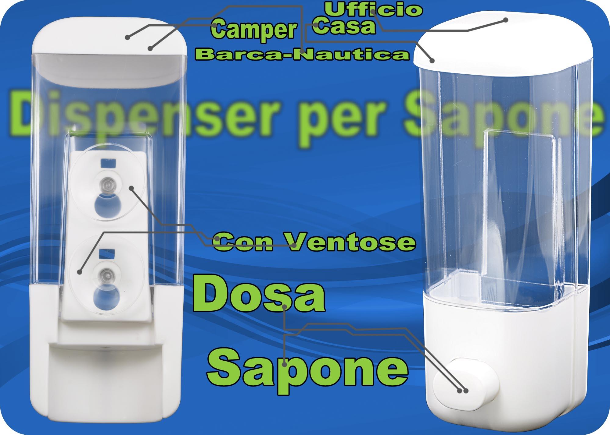 Dosatore per sapone shampoo barca camper casa bagno doccia negozio ufficio nuovo ebay - Sapone neutro per pulizie casa ...