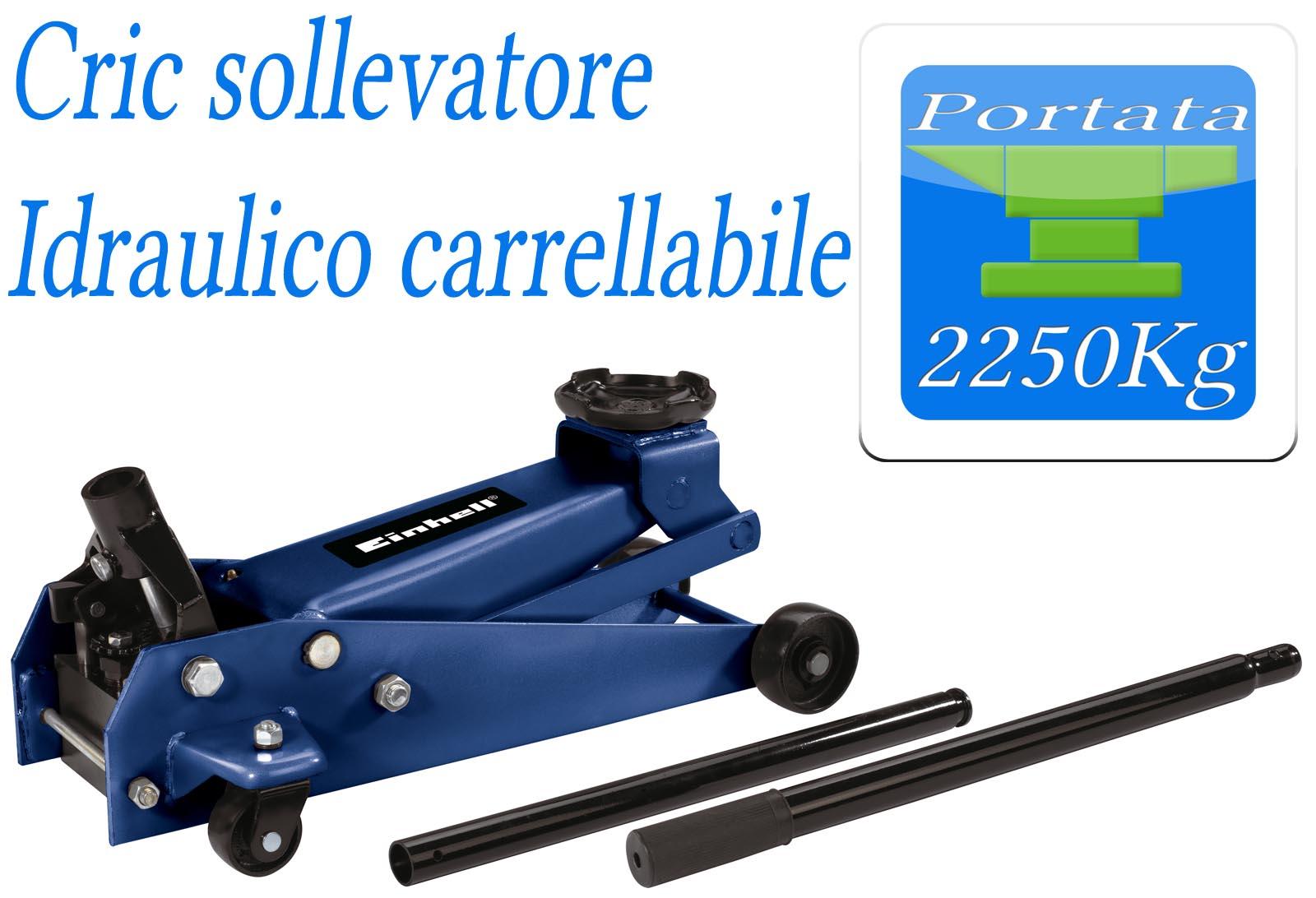 Crick cric cricchetto sollevatore auto furgoni 2250kg for Cric idraulico a carrello professionale prezzi