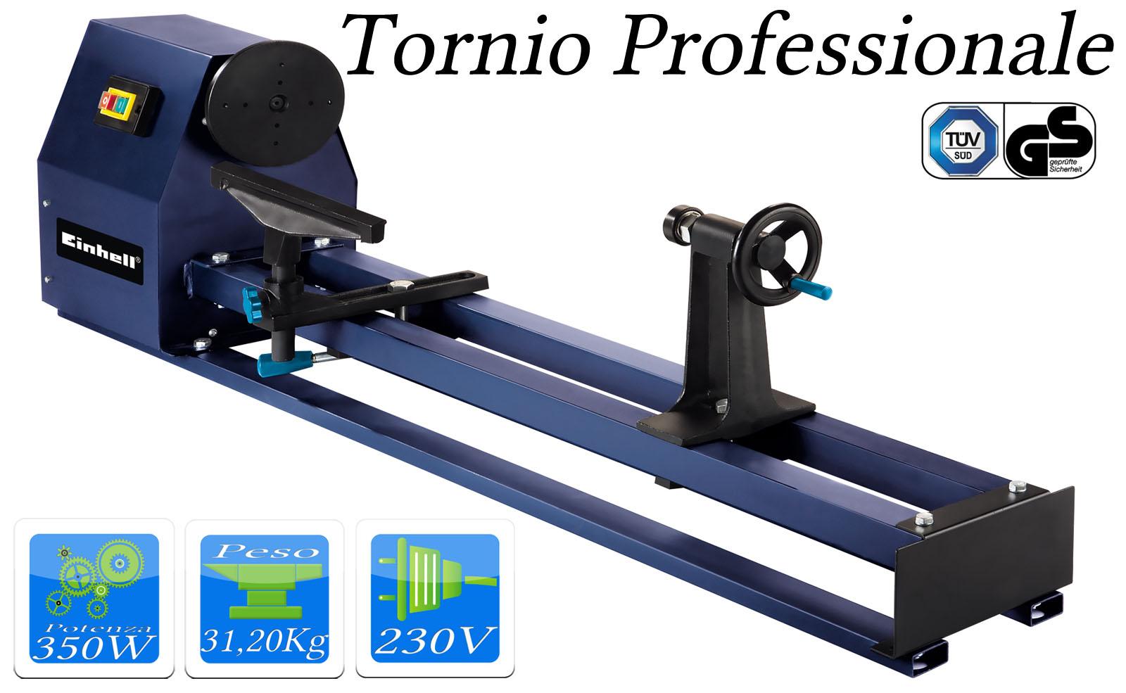 Tornio einhell per legno 350 watt 4 velocit per lavori di for Costruire un tornio per legno