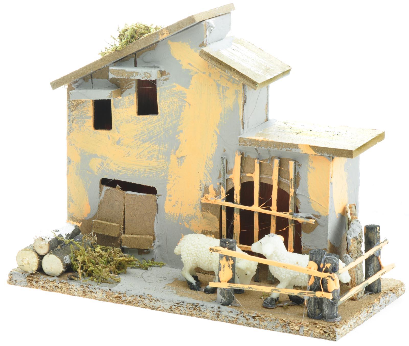 Casetta con pecorelle per allestimento presepe nativit for Case da costruire